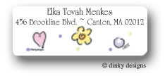 Dinky Designs Address Labels - Pretty Pinks And Purple