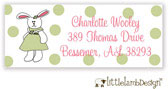 Little Lamb Design Address Labels - Cute Bunny