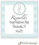 Little Lamb Design Address Labels - Baby Blue Initial