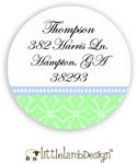 Little Lamb Design Address Labels - Blue and Green