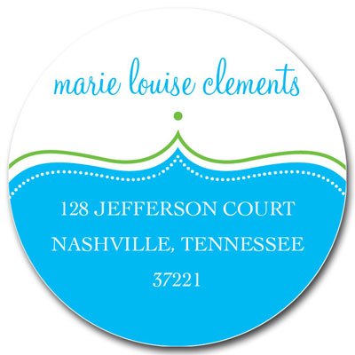 Prints Charming Address Labels - Aqua & Green Decorative