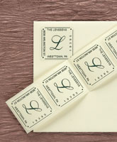 Rytex - Script Initial Address Labels (Square)