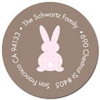 Spark & Spark Return Address Labels (Little Bunny - Lite Choc)