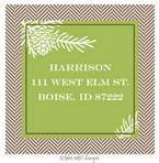 Take Note Designs - Address Labels (Green and Brown Tweed - Fall/Thanksgiving)
