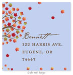 Take Note Designs - Address Labels (Falling Leaves - Fall/Thanksgiving)
