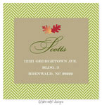Take Note Designs - Address Labels (Acorn Leaves & Green Tweed - Fall/Thanksgiving)