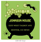 Take Note Designs - Address Labels (Green Caldron - Halloween)
