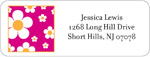 iDesign Address Labels - Daisies - Hot Pink (Everyday)