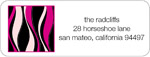 iDesign Address Labels - Wavy - Hot Pink (Everyday)