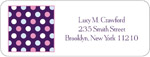 iDesign Address Labels - Dots - Purple (Everyday)