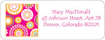 iDesign Address Labels - Kaliedescope - Hot Pink (Everyday)
