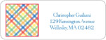 iDesign Address Labels - Criss Cross - Multicolor (Everyday)