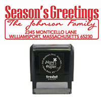 More Than Paper - Custom Self-Inking Stamps (Tree Season's Greetings)