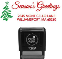 More Than Paper - Custom Self-Inking Stamps (Season's Greetings)
