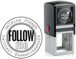 More Than Paper - Custom Self-Inking Stamps (Follow Me)