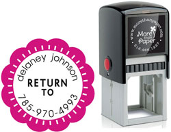 More Than Paper - Custom Self-Inking Stamps (Return To)