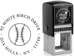 Baseball Custom Self-Inking Stamps by More Than Paper