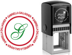 More Than Paper - Custom Self-Inking Stamps (Gabriella)