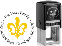 More Than Paper - Custom Self-Inking Stamps (Fleur de Lis)
