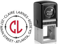 More Than Paper - Custom Self-Inking Stamps (Dual Initial)