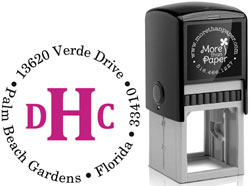More Than Paper - Custom Self-Inking Stamps (Classic Monogram)