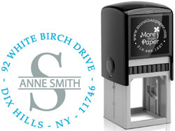 More Than Paper - Custom Self-Inking Stamps (Banded Initial)