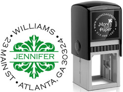 More Than Paper - Custom Self-Inking Stamps (Banded Damask)