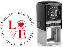 More Than Paper - Custom Self-Inking Stamps (Love)