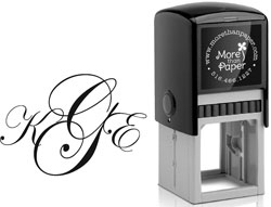 More Than Paper - Custom Self-Inking Stamps (Formal Monogram)