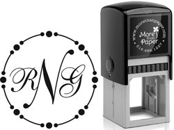 More Than Paper - Custom Self-Inking Stamps (Beaded Monogram)