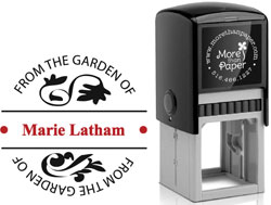 More Than Paper - Custom Self-Inking Stamps (From The Garden Of)