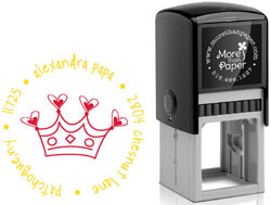 More Than Paper - Custom Self-Inking Stamps (Princess)