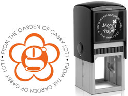 More Than Paper - Custom Self-Inking Stamps (Daisy Initial)