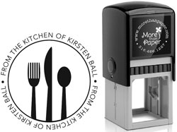 More Than Paper - Custom Self-Inking Stamps (Kitchen Utensils)