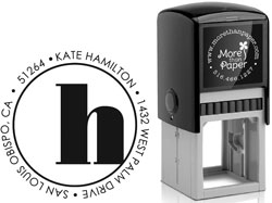 More Than Paper - Custom Self-Inking Stamps (Broadway Initial)