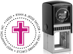 More Than Paper - Custom Self-Inking Stamps (Cross)