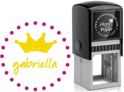 More Than Paper - Custom Self-Inking Stamps (Princess Crown)