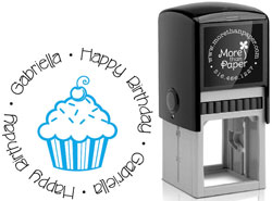 More Than Paper - Custom Self-Inking Stamps (Cupcake)