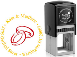 More Than Paper - Custom Self-Inking Stamps (Wedding Rings)