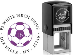 More Than Paper - Custom Self-Inking Stamps (Soccer Ball)