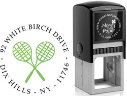 More Than Paper - Custom Self-Inking Stamps (Tennis Racquets)