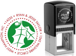 More Than Paper - Custom Self-Inking Stamps (Holly)