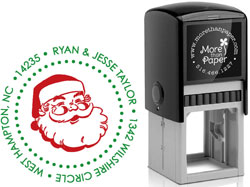 More Than Paper - Custom Self-Inking Stamps (Santa)