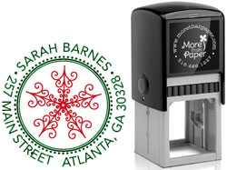 More Than Paper - Custom Self-Inking Stamps (Snowflake)