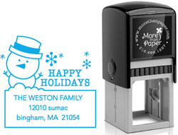 More Than Paper - Custom Self-Inking Stamps (Snowman)
