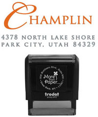 More Than Paper - Custom Self-Inking Stamps (m301)