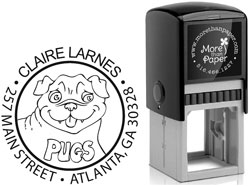 More Than Paper - Custom Self-Inking Stamps (Pug)
