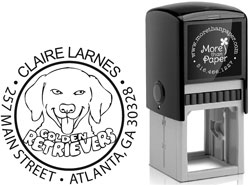 More Than Paper - Custom Self-Inking Stamps (Golden Retreiver)
