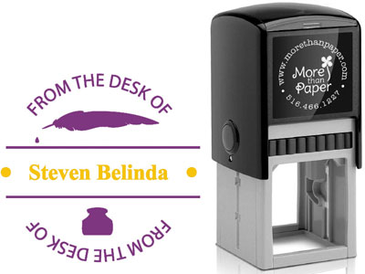 More Than Paper - Custom Self-Inking Stamps (From The Desk Of)