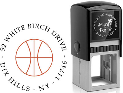 More Than Paper - Custom Self-Inking Stamps (Basketball)